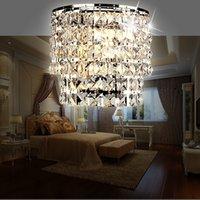 Modern kristal avize duvarı ışık kapalı duvar aplik lamba oturma odası başucu cam kristal duvar lambaları fuaye LED
