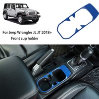 Blue Front Water Cup Holder Decorative Cover For Jeep Wrangler JL JT 2018 Factory Outlet High Quatlity Auto Internal Accessories