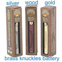 Brass Knuckles 650mAh 900mAh tensione variabile Preriscaldare E-Cigarette Pen batteria per 510 filo grosso Olio Cartridge Vape Batteria