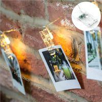 Lampes de Noël LED Cordes Clip Lampe 3000K Multicolour 10 20 30 40ELÉS Éclairage de vacances pour la décoration de la fête de la cour extérieure DHL