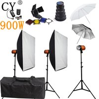 CY Photography Studio Soft Box Flash Lighting Kits 900w Flas...