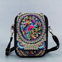 Vintage Nacional estilo de las mujeres de origen chino Bolsa Bolsa de hombro bordado de Boho de la borla del mensajero del totalizador del Hippie