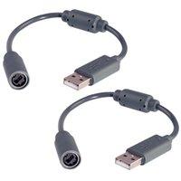Reemplazo USB Breakaway Cable para Microsoft Xbox 360 Controladores Cables de extensión del cable de conexión de cable adaptador de 22cm Accesorios
