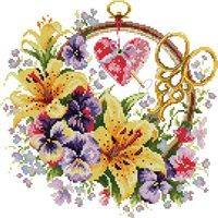 Articles promotionnels Modèles de point de croix compté Paysage Broderie Mur artisanat Peinture à aiguille Kits à la main Toile Art Toile Photos