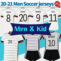 2020 2021 Homens Crianças # 8 Kroos # 11 Reus Home Soccer Shirt Nation Team # 9 Werner # 20 Gnabry Personalizado Futebol Uniformes