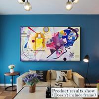 Grande tela astratta pittura Immagini Arte moderna parete per Poster Living Room Decor colori moda decorativa e stampa