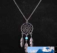 Fashion hot Pendant Necklaces 4Styles Alloy Dream Catcher girl Necklace For Women Statement Necklace Jewelry EXL102