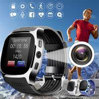 T8 بلوتوث الذكية ووتش مع كاميرا الهاتف ماتي بطاقة سيم عداد الخطى الحياة للماء لالروبوت ios smartwatch الروبوت smartwatch