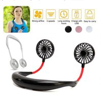Tragbare Fan-Hand Free Personal Mini Fan USB aufladbare Ausschnitt Fan 360 Grad Einstellung Kopf Hanging Neck Fans für Reisen im Freien