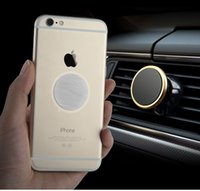 500pcs Free Shipping Universal Phone Holder Stand 360 Degree Rotate Magnetic Car Air vent Mount Mobile Bracket