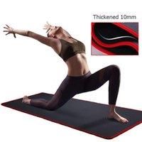 10mm Yoga Minderi Ekstra Kalın 1830 * 610mm NRB Kaymaz Yastık Mat İçin Erkekler Kadınlar Spor Tatsız Gym Egzersiz Pedleri Pilates Yoga