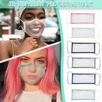 50pcs DHL Claro completa Máscaras de protección transparente y transpirable Sordomudos máscara del labio para adultos mujeres de los hombres de color sólido ribete BLM-00190 w