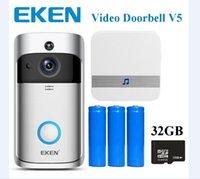 EKEN WIFI Video Doorbell V5 Smart Home Door Bell Chime 720p Cámara HD HD Vídeo en tiempo real Visión de audio de dos vías Visión de la noche PIR Detección de movimiento