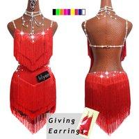 2020 Top Vente Danse latine Robes Femmes Dentelle noire du Club Party Danseur Chanteur Entertainer Tassel Fringe robe noire DM1034 CX200818