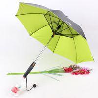 Creative 4 colores Soleado y paraguas lluvioso con ventilador y aerosol de mango largo Viernos de enfriamiento de un paraguas UV paraguas de protector solar