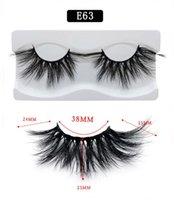 Visone 3D capelli ciglia finte ciglia finte 25mm lungo eccellente spessore ricci incrociate allungamento delle ciglia disordinato 50pairs / lot DHL