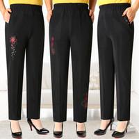 New Mulheres Moda longo PantsHigh cintura Roupa Calças de Inverno Adicionar Lã Plus Size Calças Legging Elastic Mãe cintura