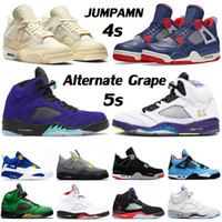 Basketball Schuhe air jordan 4 off white Sail jordans 4s Neon IV Travis Scott Cactus Jack Männer Frauen AJ Alternate Grape Retro 5 5s V jumpman Damen Herren Trainer Sneakers