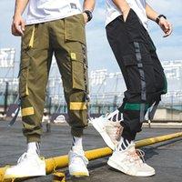 Мужчины моды INS штанах Сыпучие Student шаровары Мужчины хип-хоп Мужской Повседневный Черный Sweatpants Брюки Уличная