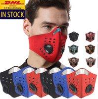 Zapasy USA! Twarz Outdoor Sports Runing Maska PM2.5 Anti-zanieczyszczenie Maska do biegania Filtr Węglowy Zmywalny Maska Rowerowa FY9061