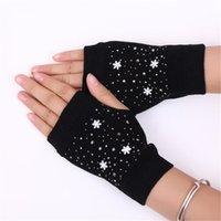 Fünf Fingerhandschuhe 30pair Winter Boygirl Studenten Hausaufgaben Tau Finger Cartoon Flexibilität Handschuhe, Frauen Büro Strickstickerei Fingerles