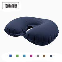 Tampons en plein air en forme d'oreiller en forme d'oreiller gonflable matelas de coussin de coussin souple