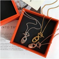 Classic Jewelry Woman Necklace High Quality Plating Gold H Letter Pendant Necklace Christmas Fashion Jewelry Gift Free Shipping