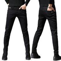 Fashion Designer elastici Jeans uomini eterosessuali nero stampato Jeans Pant cotone con Spandex cotone denim pantaloni del Jean