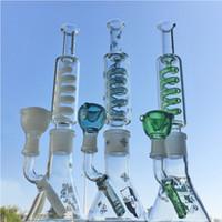 Condensador Bobina Glass Bong Grupo Fridozable Grande Aughty Waterpipe Beaker Construir Bongo Difusão Difusão Downstem Dab Dorm Big Grande Branco Roxo Bondos