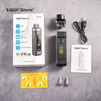 Original Vapor tempestade VPM 40 40W Pod Sistema Mod Starter Kit com malha Bobinas 4,8 ml Cartucho caber 18650 Bateria E Cigarette V-PM40 VPM 40 Vape