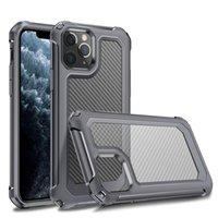 Cáscara de protección de la caja del teléfono móvil a prueba de choques de fibra de carbono más nueva para iPhone XS 11 Pro Max XR 6 7 8 Plus