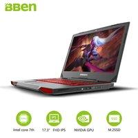 كمبيوتر محمول BBEN G17 لعبة الكمبيوتر 17.3 بوصة Windows10 Intel 7700HQ 8 RAM 128G SSD 1TB HDD NVIDIA GDDR5 6G FHD الخلفية لوحة المفاتيح