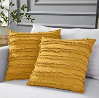 Pillow Case Decoration Pillow Cover 45*45cm 5 Styles Cushion Cover Floral Tassels Square Pillowcases Home Sofa Chair Decoration Gifts 99108