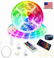 LED 스트립 빛 DC12V 24V Bluetooth 제어 RGB SMD5050 30LED M LED 다채로운 동기화 음악 타이머 유연한 백라이트 키트 TV 백라이트