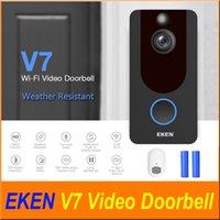Eken V7 1080p Smart Home Video Türklingel Kamera Wireless WiFi Echtzeit-Video mit Glockenwolke Aufbewahrung Nachtsicht PIR-Bewegungserkennung