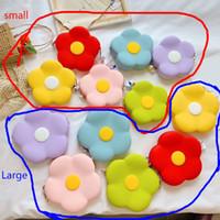 패션 디자이너 여러 가지 빛깔의 꽃 작은 큰 귀여운 만화 여성 여자 실리콘 어깨 가방 키 지갑 가방 동전 지갑 어린이
