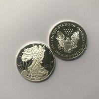 10 PZ Statua di bellezza non magnetica 2020 Freedom 1oz Argento placcato 40 mm Commemorative Decorazione americana Non valuta Coin Coin