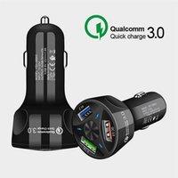 NEUE QC 3.0 Dual USB-Anschluss-Fahrzeug-Ladegerät High-Speed-Schnellladung Auto-Ladegeräte-Adapter Intelligent 3 USB-Autoladegerät für Telefon