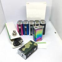7 Цветов Мини 10 Вт Аккумулятор 1050 мАч VV Box Мод Переменная Напряжение OLED Экран Дисплей ECIG Моды с USB Кабель 510 Поток Разъем Адаптер