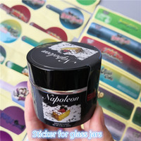 Glasburkkakor Runtz PVC-etiketter för 2oz 60ml Childresistant Glasburk Gary Payton Cookies London Pound Cake Stickers Jungle Boyz Etiketter