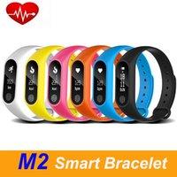 M2 الذكية سوار رصد معدل ضربات القلب بلوتوث Smartband الصحة واللياقة البدنية المقتفي الذكية الاسوره باند لالروبوت دائرة الرقابة الداخلية شحن مجاني