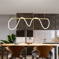 Post modern led chandelier  creative simple art lighting res...
