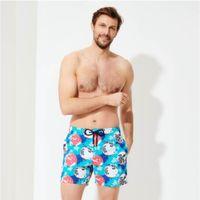 빌 브레킨 MEN 수영복 MAPPEMONDE DOTS 360 PRINTED 최신 여름 캐주얼 반바지 남성 패션 스타일 남성 반바지 버뮤다 비치 반바지 (5216)