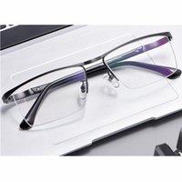 Männer Metall Half-Frame Brillengestell Ultra Light Mode Brillengestell Anti-blaues Licht Computer-optische Korrekturbrillen