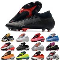 Mercurial superfly vii 7 أحذية كرة القدم 360 النخبة fg xii cr7 se ronaldo neymar رجل المرأة الاطفال الصبي كرة القدم الأحذية المرابط EUR 35-45