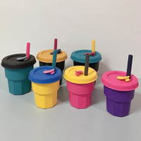 18 Colors 400ml Silicone Coffee Cups with Lid Straw Colorful...