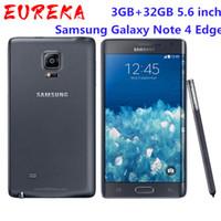Оригинальный Samsung Galaxy Note 4 Края N915A N915T N915P N915V N915F 3GB / 32GB 5,6 дюймового 16MP разблокирован Восстановленный телефон