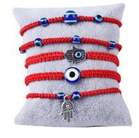2021 6 Стилей Ручной браслет Браслет Lucky Red String Threat Blue Evil Eye Очарование Ювелирные Изделия Фатима Дружба