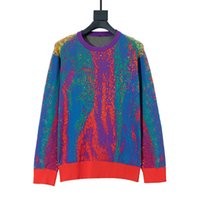 2020SS 겨울 스웨터 남성 스웨터 코트 패션 자카드 O 넥 스웨터 긴 소매 남성 높은 품질 운동복 사이즈 XS-L