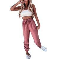 Women Sweatpant High Waist Joggers Hip Hop Dance Show Pant Baggy Casual Slim Fit Trousers Sportswear